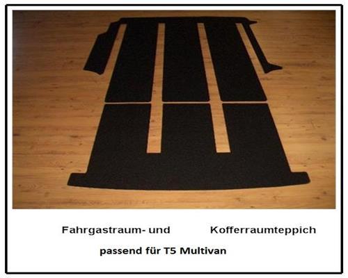 Fahrgastraum und Kofferraummatte Teppich Fußmatte für VW