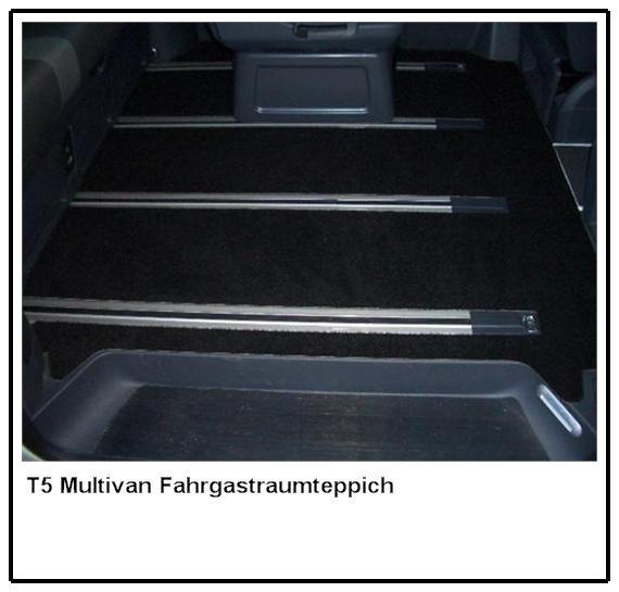 fu matten autoteppich teppich vw t5 multivan highline ebay. Black Bedroom Furniture Sets. Home Design Ideas