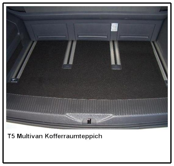 Kofferraummatte Kofferraum Teppich Fußmatte für VW T5 Multivan