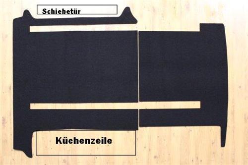 Gastraum und Kofferraum Teppich Fußmatte für VW T6
