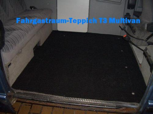 Gastraumteppich Fußmatte Teppich hinten für VW Bus T3 Multivan