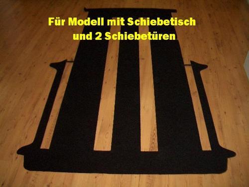 Komplett Teppich Fußmatte hinten VW T5 Multivan 2