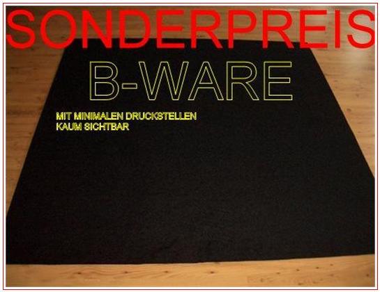 BWare Teppich Autoteppich schwarz 200×200