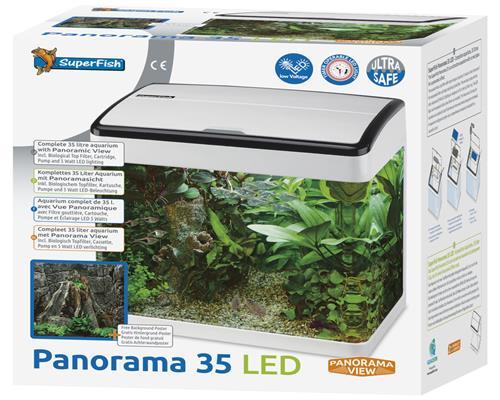 superfish panorama aquarium 20 35 u 50 liter inkl filter led beleuchtung pumpe ebay. Black Bedroom Furniture Sets. Home Design Ideas