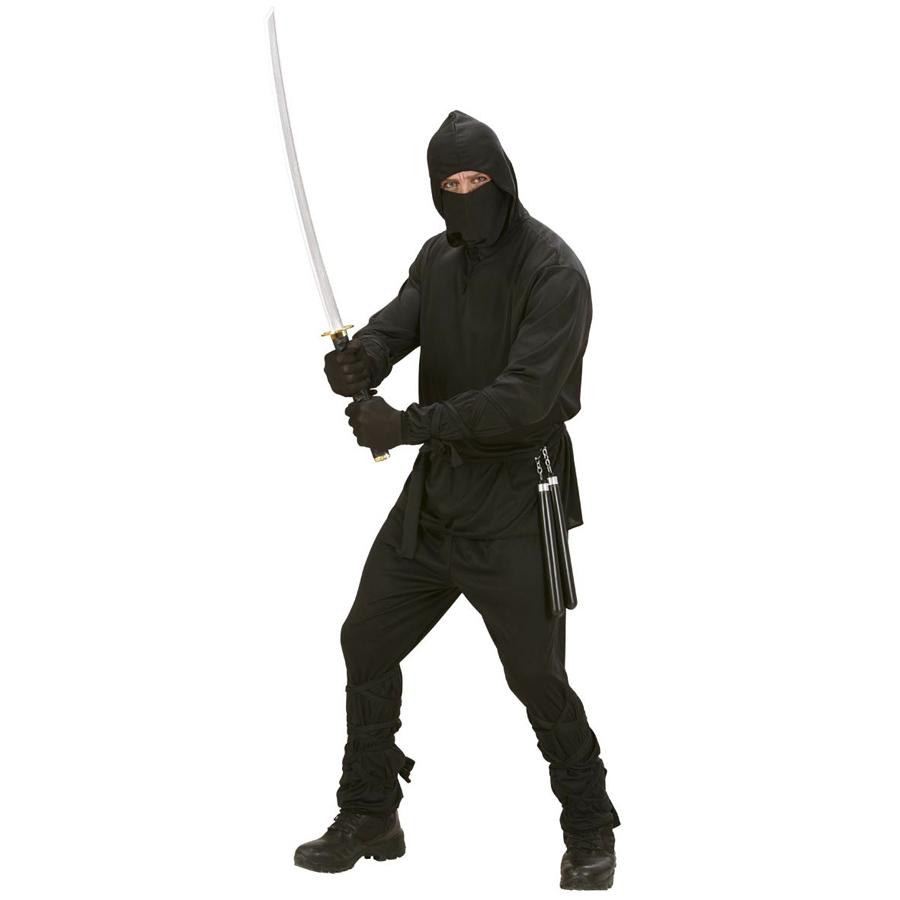 ninja herren kost m karneval samurai ninjakost m m nner party verkleidung l 0277 ebay. Black Bedroom Furniture Sets. Home Design Ideas