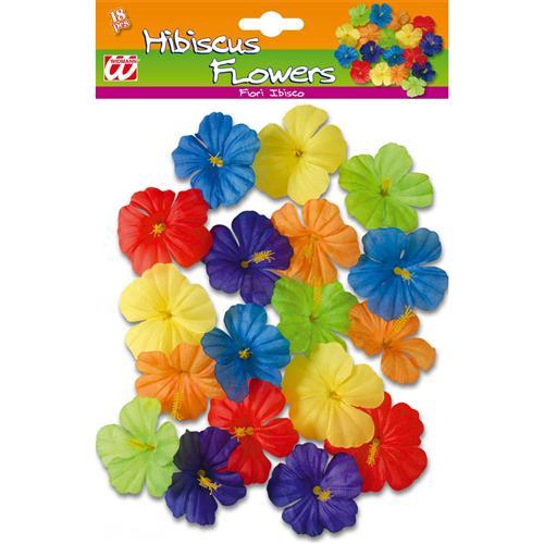 Hawaii Deko 18x hibiskus deko blüten hawaii südsee karibik blumen kostüm zubehör 2379 ebay