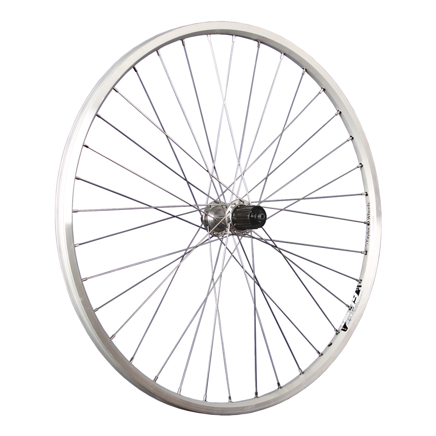 Taylor-Wheels-26inch-bike-rear-wheel-Zac19-with-Shimano-Deore-hub-silver