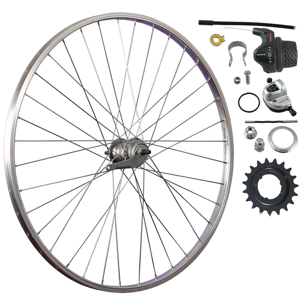 28-Zoll-Fahrrad-Laufrad-Shimano-Inter-3-Nabenschaltung-Ruecktrittbremse-Aluminium