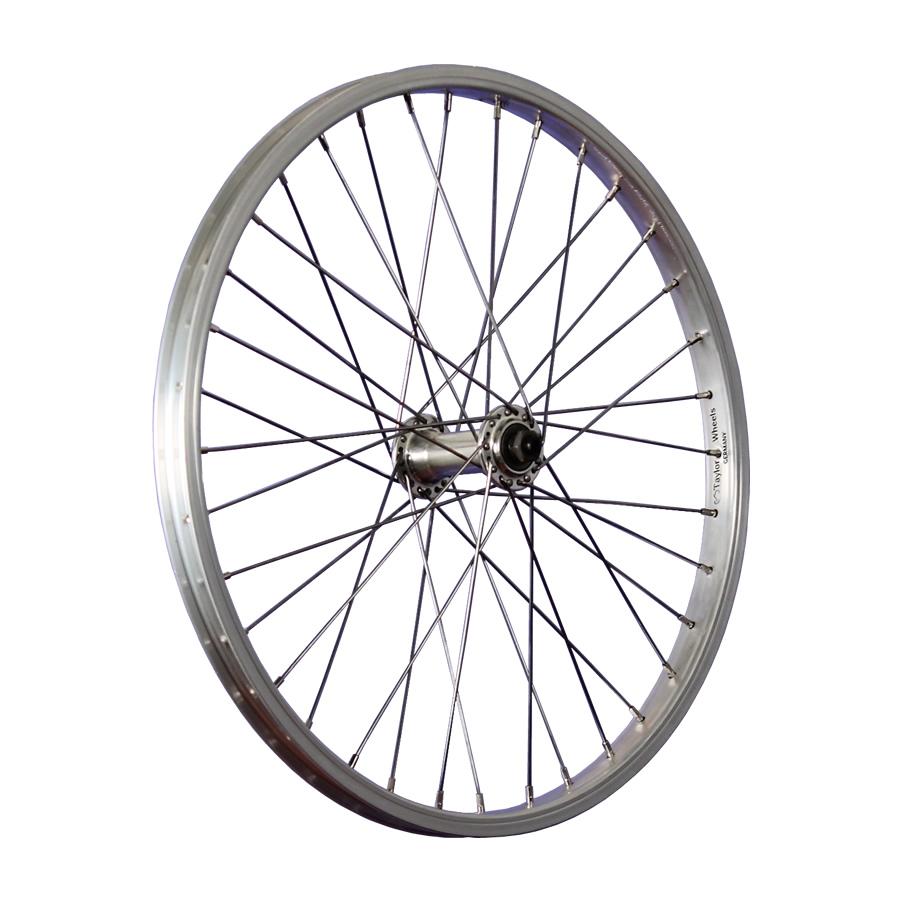 taylor wheels roue avant v lo 20 pouces jante en aluminium attache rapide argent ebay. Black Bedroom Furniture Sets. Home Design Ideas