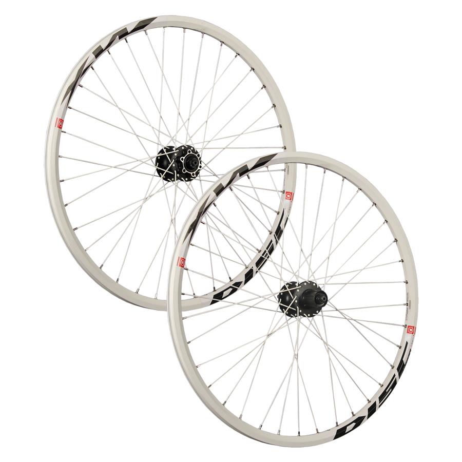 26 Zoll MTB Fahrrad Laufradsatz Mach1 MX Disc Shimano 6 Loch ATB weiß