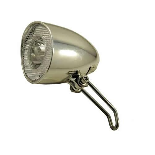 fahrrad scheinwerfer led retro nostalgie chrome schalter sensor standlicht licht ebay. Black Bedroom Furniture Sets. Home Design Ideas