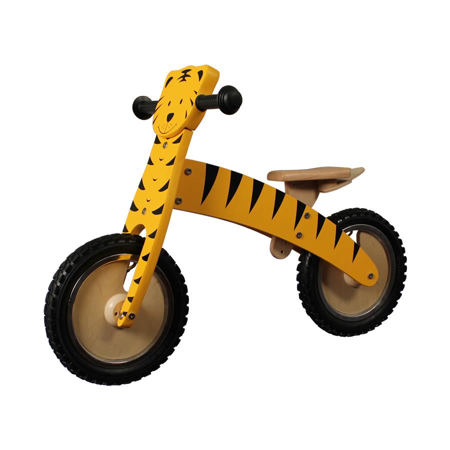 12 pouces draisienne tigre en bois jaune v lo d apprentissage pour enfants ebay. Black Bedroom Furniture Sets. Home Design Ideas