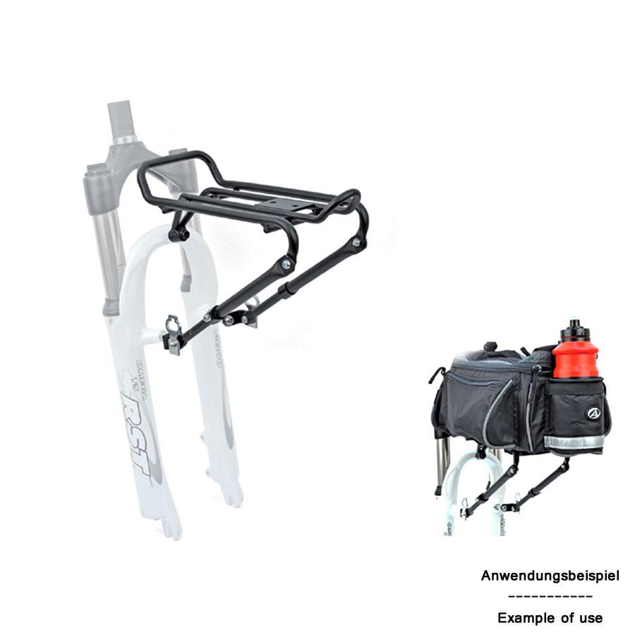 author fahrrad gep cktr ger acr 30 vorn aluminium gabelmontage 5kg schwarz ebay. Black Bedroom Furniture Sets. Home Design Ideas