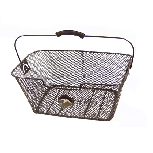Bike-mesh-basket-for-rear-pannier-racks-black-with-handle