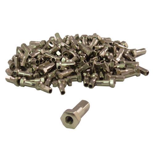 100-Fahrrad-Speichennippel-Nippel-Hexa-6-Kant-silber