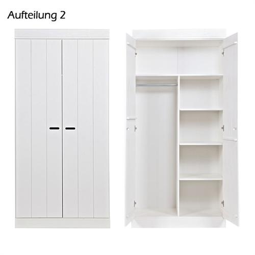 kleiderschrank 39 basic 39 kleider schrank holzschrank holz kiefer farbe wei neu ebay. Black Bedroom Furniture Sets. Home Design Ideas