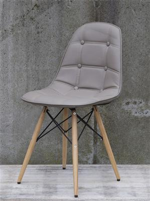 design stuhl 39 cross 39 aus kunstleder holz wohnzimmer m bel ebay. Black Bedroom Furniture Sets. Home Design Ideas