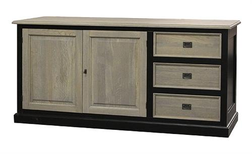 landhaus sideboard aus eiche holz kommode schrank m bel in wei oder schwarz ebay. Black Bedroom Furniture Sets. Home Design Ideas