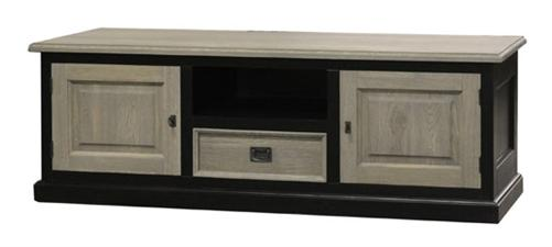 landhaus tv board dublin sideboard fernseh schrank aus eiche holz ebay. Black Bedroom Furniture Sets. Home Design Ideas