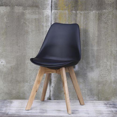design stuhl 39 leisure 39 aus kunstleder holz wohnzimmer