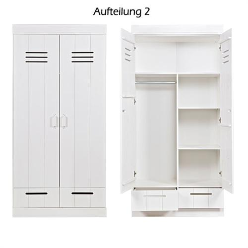 kleiderschrank 39 locker 39 kleider schrank inkl 2 schubladen holz kiefer wei ebay. Black Bedroom Furniture Sets. Home Design Ideas