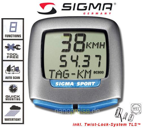 sigma fahrradcomputer bedienungsanleitung