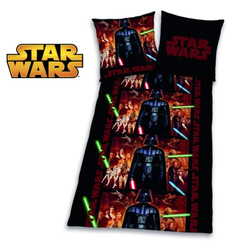 star wars bettw sche set 135x200 biber flanell 468593050. Black Bedroom Furniture Sets. Home Design Ideas