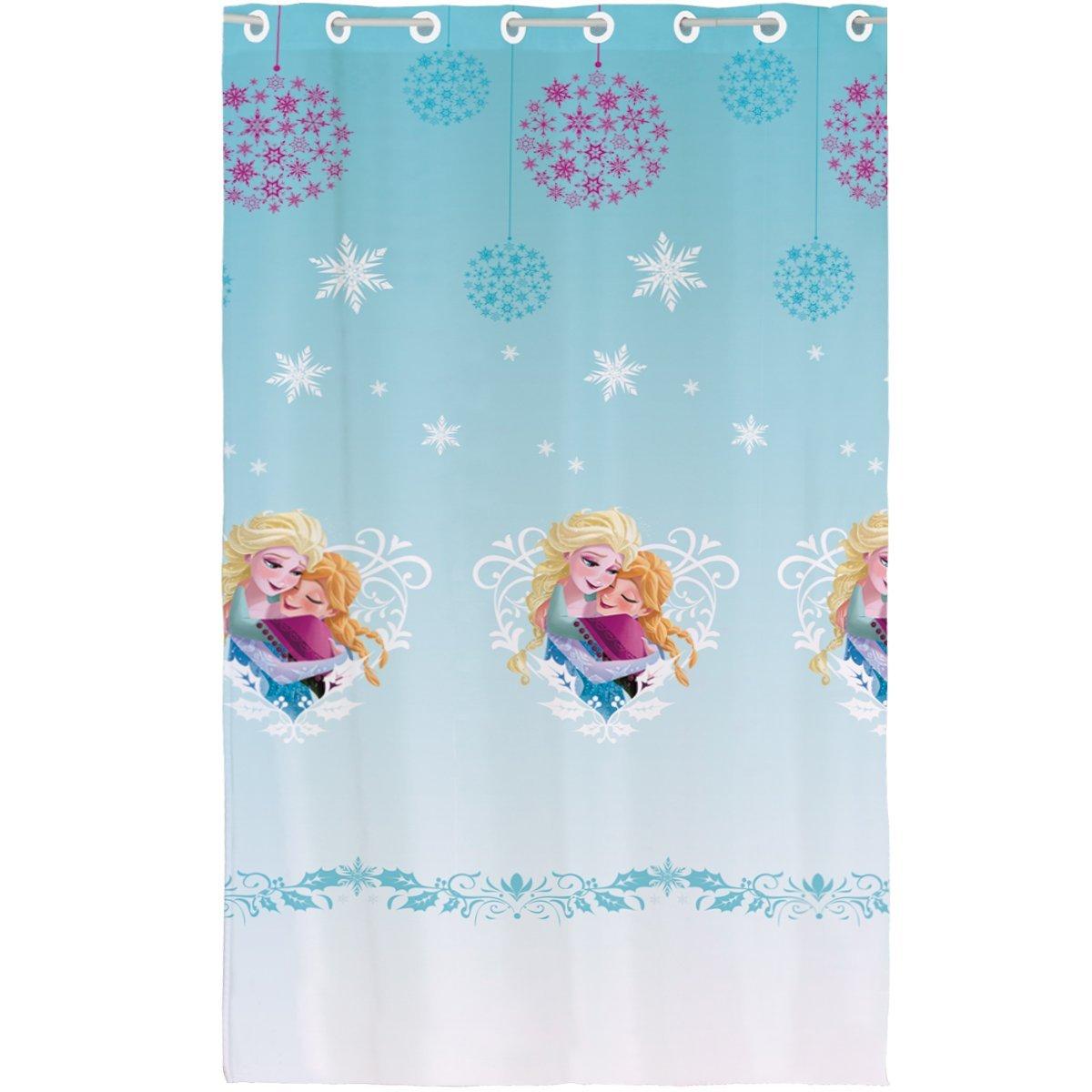 gardine fertiggardine disney eisk nigin 140x240cm frozen vorhang 29552 ebay. Black Bedroom Furniture Sets. Home Design Ideas
