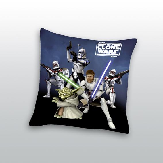 gro es star wars the clone kissen 40x40 yoda lichtschwert zur bettw sche pl sch. Black Bedroom Furniture Sets. Home Design Ideas