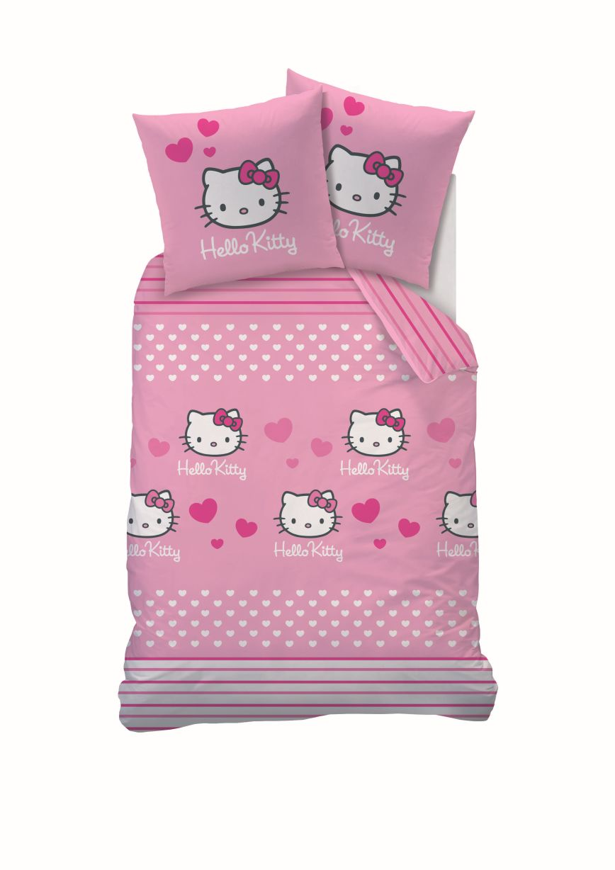 hello kitty bettw sche set auswahlangebot 135 x 200 biber flanell linon ebay. Black Bedroom Furniture Sets. Home Design Ideas