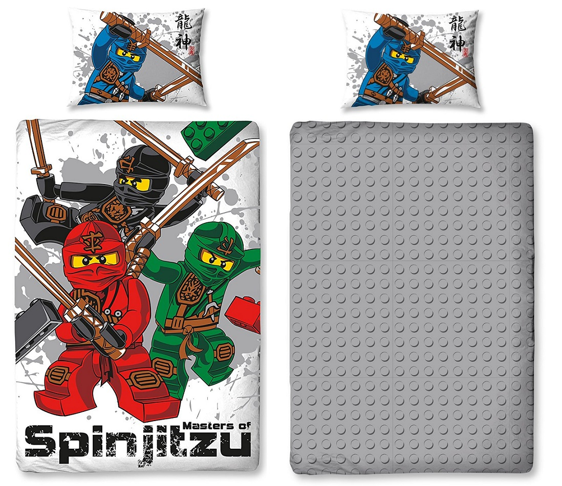 lego ninjago wende bettw sche set warrrior 135x200cm ninja. Black Bedroom Furniture Sets. Home Design Ideas
