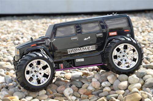 rc verbrenner hummer hammer monster truck 1 10 70 km h 3. Black Bedroom Furniture Sets. Home Design Ideas