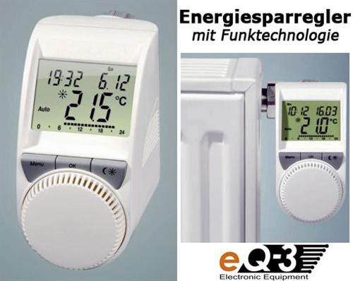 funk energiesparregler heizk rperthermostat thermostat heizregler fernbedienung ebay. Black Bedroom Furniture Sets. Home Design Ideas