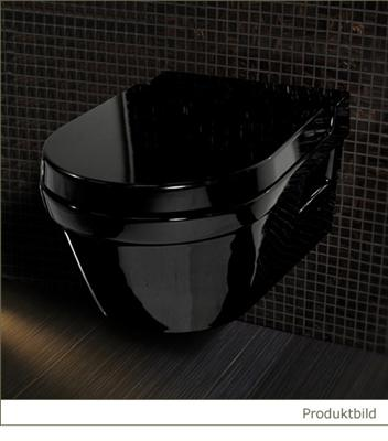 black tiefsp ler wand wc toilette h nge wc schwarz. Black Bedroom Furniture Sets. Home Design Ideas