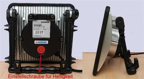 Brandneu BERNER LED Strahler SLIM 4 Helligkeiten TOP Arbeitsleuchte  ZZ02