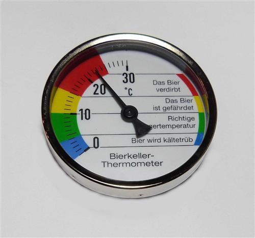 Bierkeller -  Thermometer mit Magnet  0 -  30°C  (7727#
