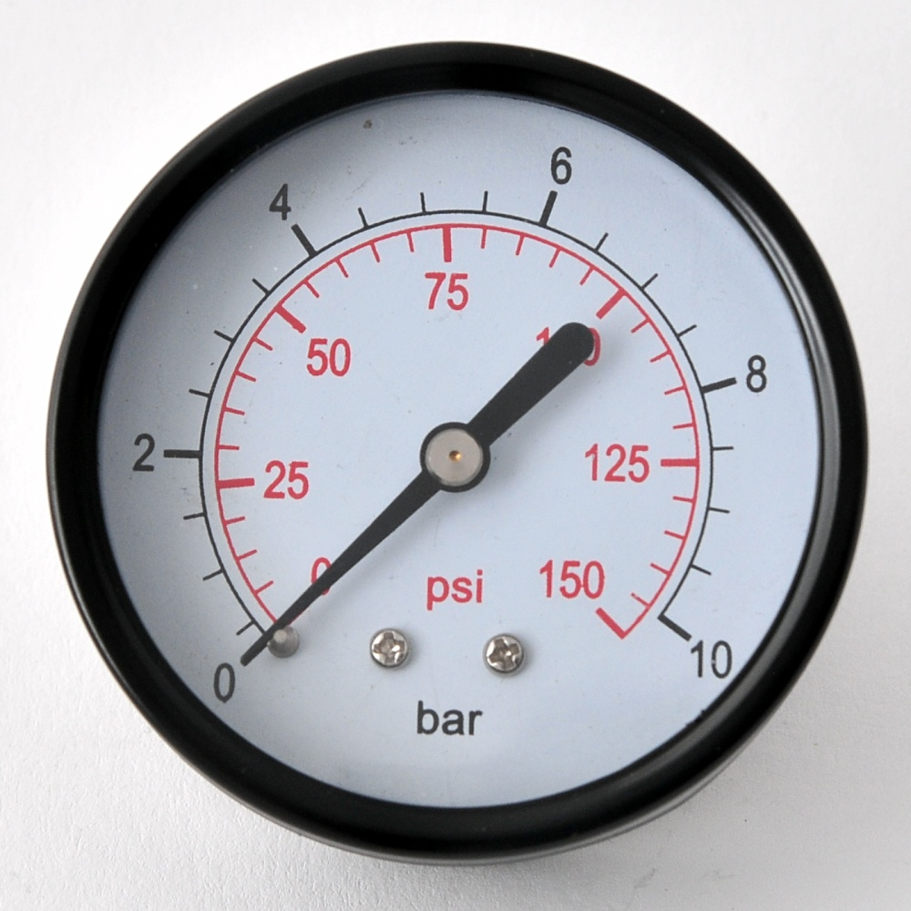 manometer 0 10 bar axial oder radial 40 oder 50mm metallgeh use 1 8 1 4 3 8 ebay. Black Bedroom Furniture Sets. Home Design Ideas
