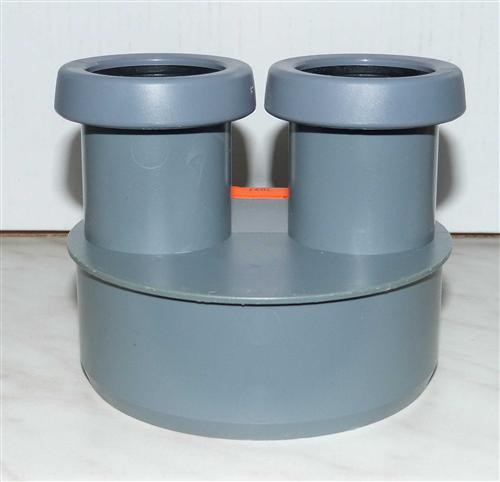 doppel reduzierung dn 110 x 40 x 40 mm farbe grau 7097. Black Bedroom Furniture Sets. Home Design Ideas