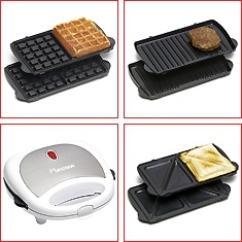 3 in 1 tischgrill sandwichmaker waffeleisen und kontaktgrill ebay. Black Bedroom Furniture Sets. Home Design Ideas