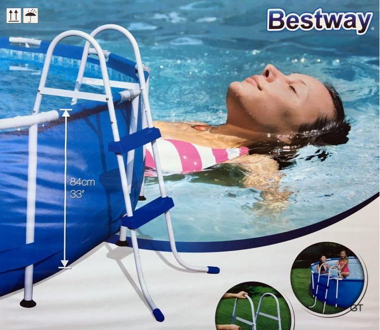 bestway poolleiter bis 84cm schwimmbadleiter pool leiter. Black Bedroom Furniture Sets. Home Design Ideas