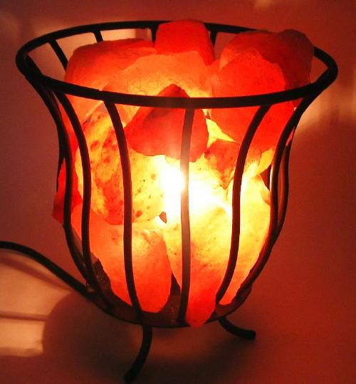 salzkristall lampe salzlampe feuerkorb 20cm 3101 eur 26 90 picclick de. Black Bedroom Furniture Sets. Home Design Ideas