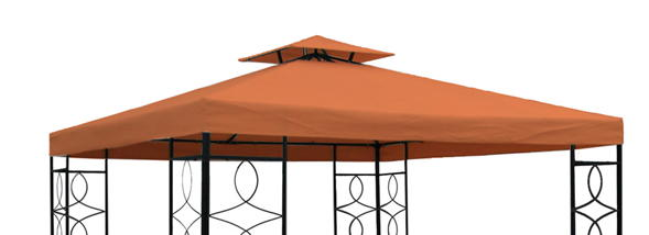pavillon ersatzdach m kaminabzug 3x3 m terrakotta ebay. Black Bedroom Furniture Sets. Home Design Ideas