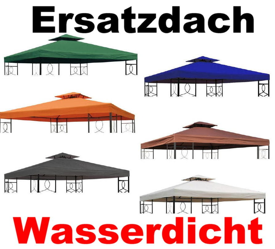 ersatzdach wasserdicht 3x3m f r pavillon partyzelt m kaminabzug viele farben ebay. Black Bedroom Furniture Sets. Home Design Ideas