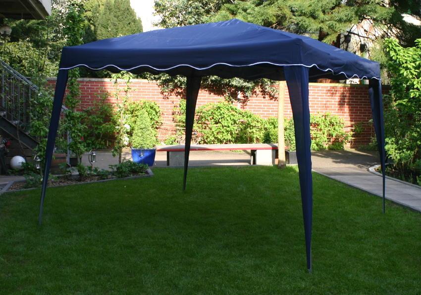 faltpavillon falt pavillon festzelt 3x3m blau 160gr m wasserabweisend pavillion ebay. Black Bedroom Furniture Sets. Home Design Ideas