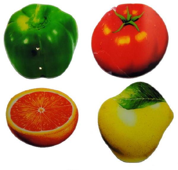 schneidbretter aus glas 4er set obst gem se tomate paprika orange birne iiwahl. Black Bedroom Furniture Sets. Home Design Ideas