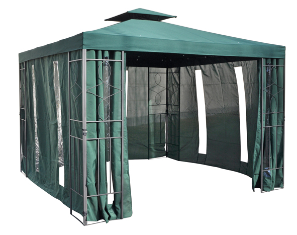 Brandneu 4 Seitenteile + / - Fenster für Pavillon 3x3 Meter Partyzelt  KF15