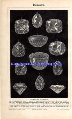 Orig.-Stich aus 1893: Diamanten