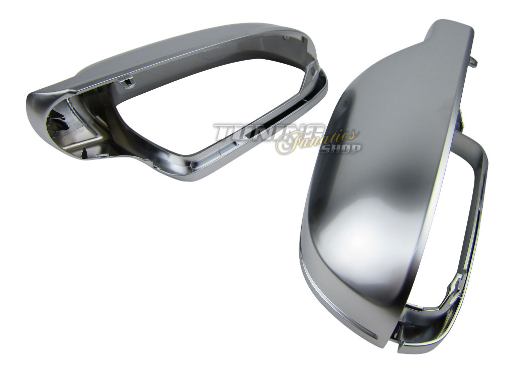 Alu matt spiegelgeh use spiegelkappen spiegel kappe audi for Audi a4 breite mit spiegel