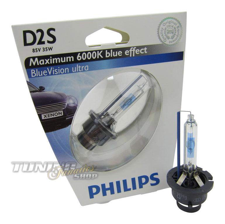 2x original philips xenon brenner d2s 6000k blue vision. Black Bedroom Furniture Sets. Home Design Ideas