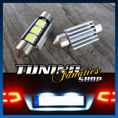 High-Power-LED-Kennzeichenbeleuchtung-SMD-VW-EOS-Tiguan-Jetta-5-Caddy-3-CANBUS